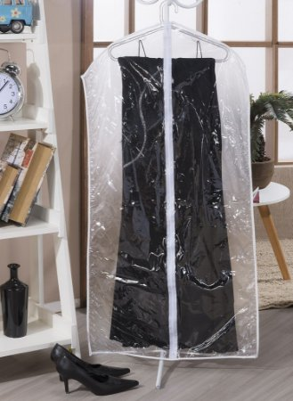 Kit 04 Capas Protetora Para Vestido Com Zíper 1,20m x 58cm