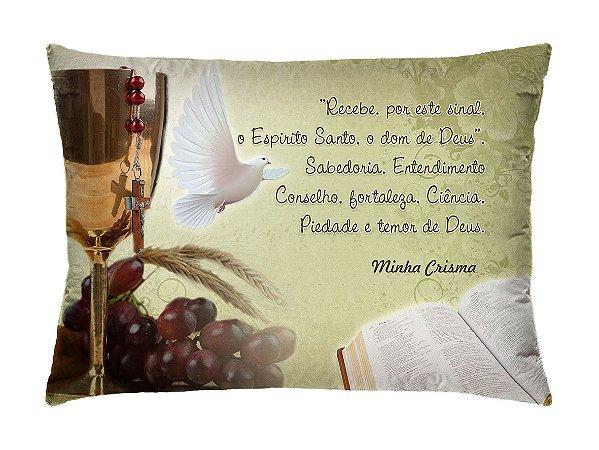 Almofada Retangular 35cm x 26cm + Capa Com Estampa De Oração Ref.: T09