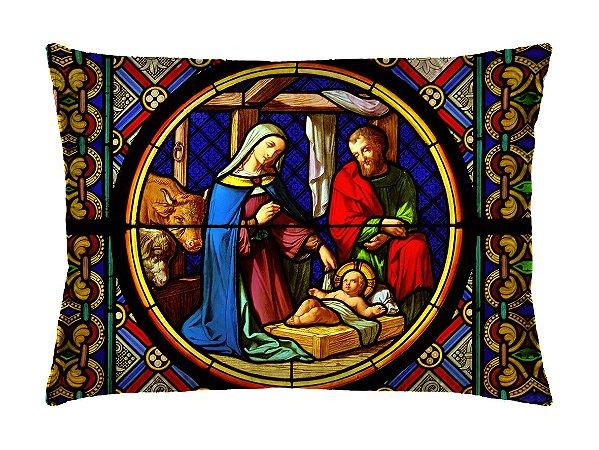 Almofada Retangular 35cm x 26cm + Capa Com Estampa De Santo  Ref.: T99
