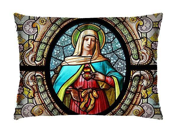 Almofada Retangular 35cm x 26cm + Capa Com Estampa De Santo  Ref.: T101