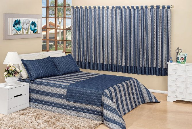 Kit enxoval paris 07 pe as cobre leito queen com cortina - Cortinas para cama ...