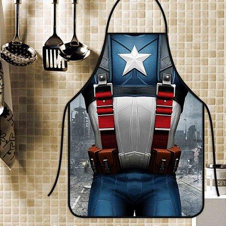 Avental Personalizado Com Estampa Cômica Capitão América