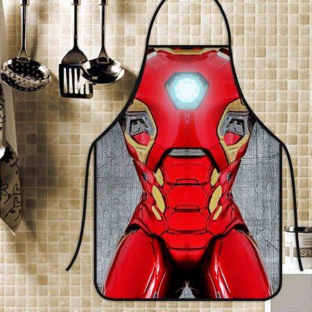 Avental Personalizado Com Estampa Cômica Homem De Ferro