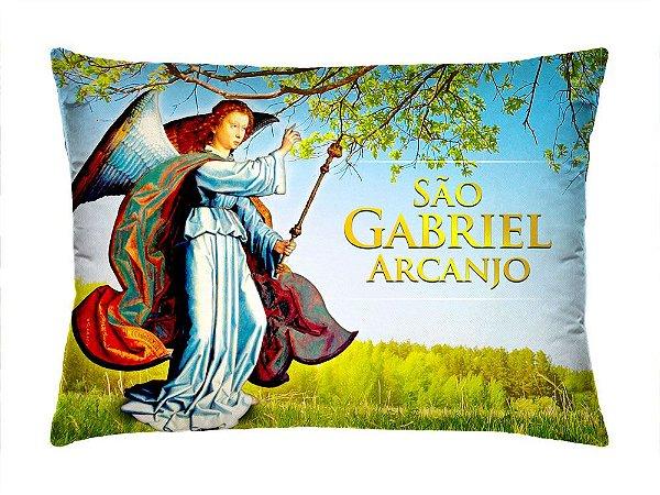 Almofada Retangular 35cm x 26cm + Capa Com Estampa São Gabriel Arcanjo Ref.: T163