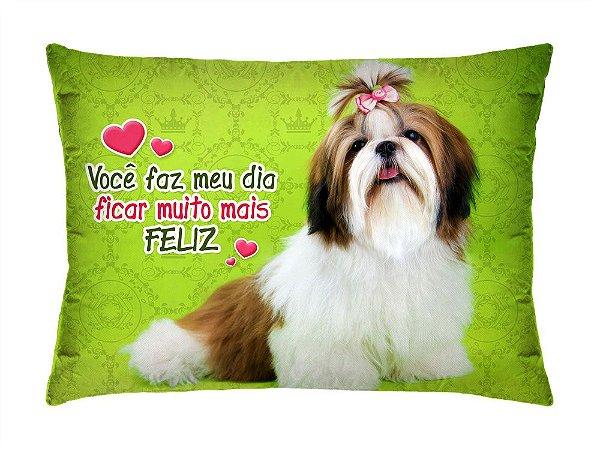 Almofada Retangular 35cm x 26cm + Capa Com Estampa De Animais E Mensagens De Amor Ref.: T196