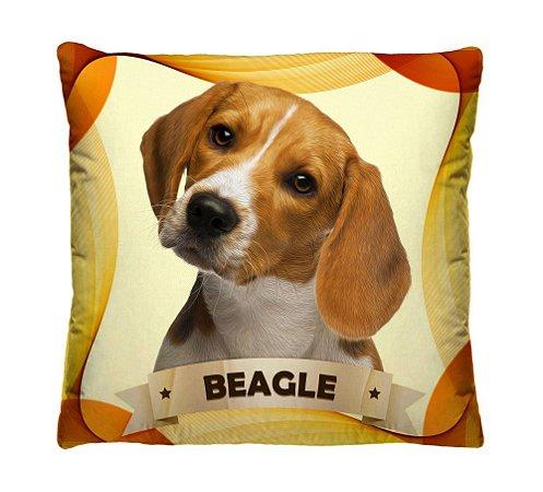 Almofada + Capa 40cm x 40cm Microfibra Com Estampa Do Cachorro Beagle Ref. A403