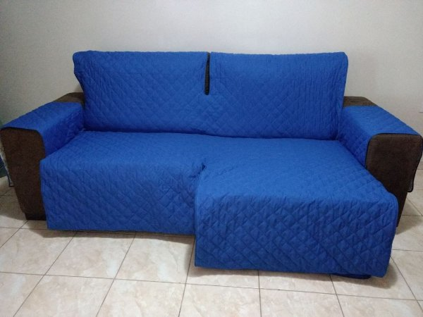 Protetor Para Sofá De 02 Módulos Microfibra Matelado Retrátil Reclinável Com Assento De 1,50M