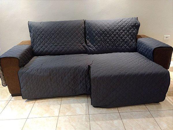Protetor Para Sofá De 02 Módulos Microfibra Matelado Retrátil Reclinável Com Assento De 1,70M