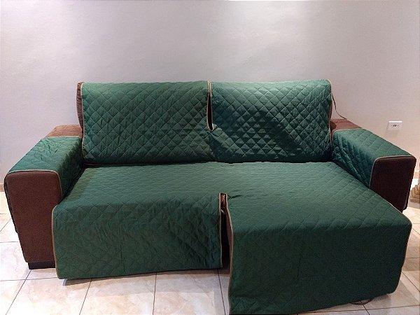 Protetor Para Sofá De 02 Módulos Microfibra Matelado Retrátil Reclinável Com Assento De 2,10M