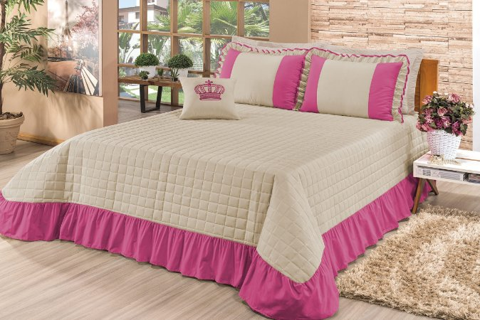 Kit de Cama Queen Completo Da Myrella Victoria 15 Peças Pink