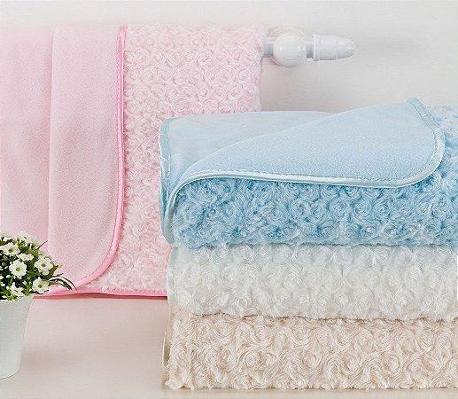 Cobertor Para Bebê Microfibra Petit Baby Com Cabide