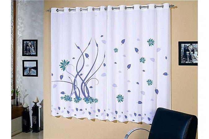 Cortina corta luz blackout estampada p sala ou quarto for Tipos de ganchos para cortinas