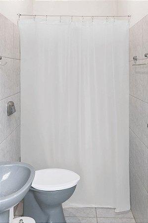 Cortina Box Para Banheiro 100% Pvc Clean Com Kit Instalação