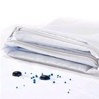 Capa Protetora Microfibra Impermeável Com Zíper Para Travesseiro