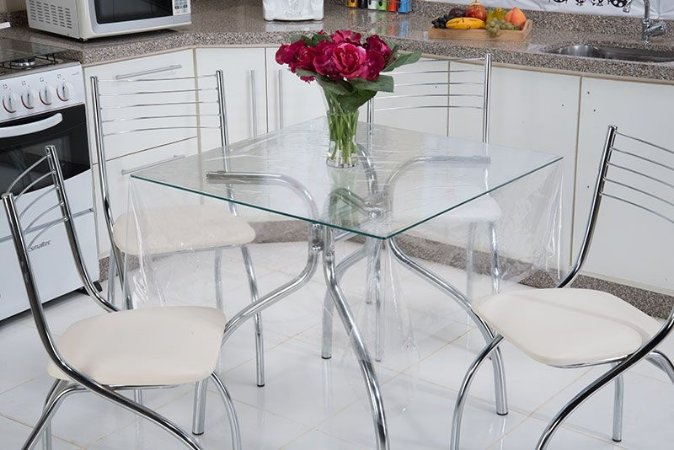Toalha De Mesa Cristal 100% PVC Tutti Casa
