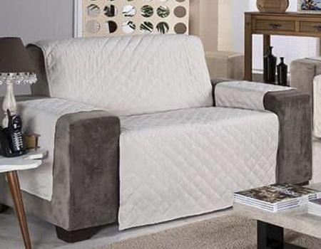 Protetor Para Sofá De 02 Lugares Com Assento De 1,20m Matelado Microfibra Lú