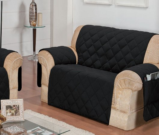 Protetor Para Sofá De 02 Lugares Com Assento De 1,50m Matelado Microfibra Lú