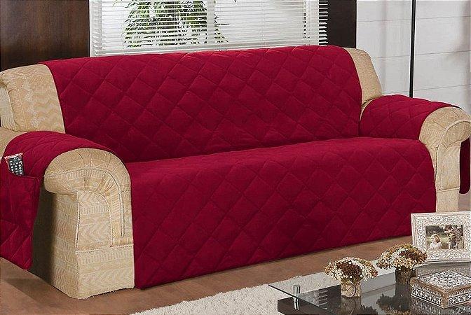Protetor Para Sofá De 04 Lugares Com Assento De 2,40m Matelado Microfibra Lú