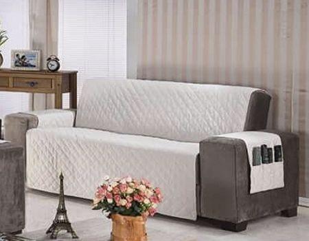 Protetor Para Sofá De 04 Lugares Com Assento De 2,50m Matelado Microfibra Lú