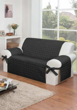 Protetor Para Sofá De 02 Lugares Com Assento De 1,20m Lú Matelado Microfibra Com Laços No Braço E Fitas De Fixação No Encosto