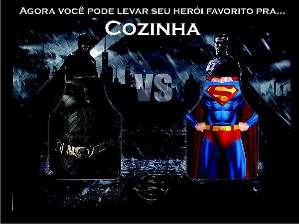 Kit Com 02 Aventais Estampados Personalizados Batman Vs Superman