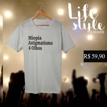 T-shirt| Miopia- astgmatismo - 4 olhos