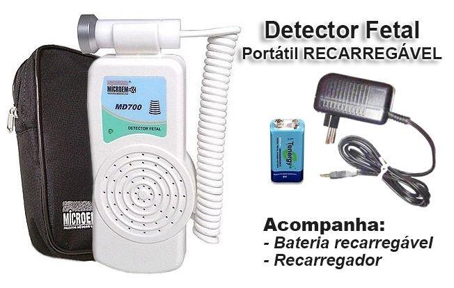 Detector Fetal Portátil MD700R - Recarregável
