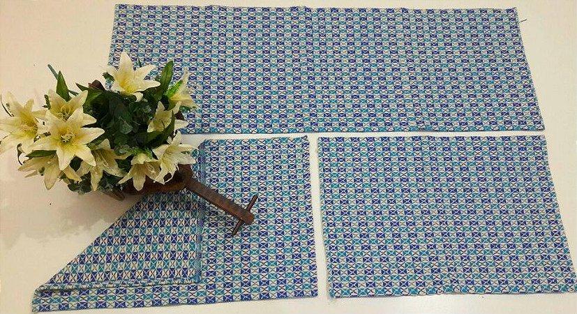 Kit de Passadeira Marrocos Azul