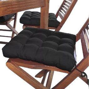 Assento de Cadeira Futon Preto