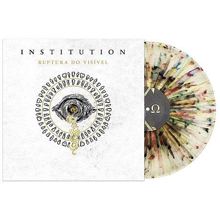 """Institution """"Ruptura do Visível"""" Vinil 12"""" Translúcido com Splatter Colorido"""