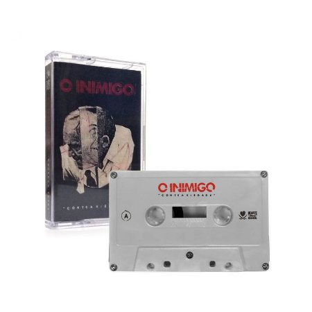 """O Inimigo """"Contrariedade"""" Cassete Cinza"""