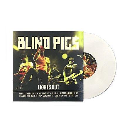 "PRE-VENDA 26/FEV: Blind Pigs ""Lights Out"" Vinil 10"" Creme"