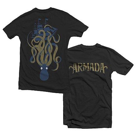 """Armada """"Polvo"""" Camiseta Preta"""