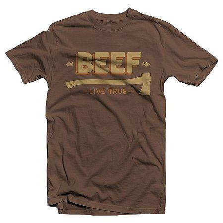 "Beef ""Live True"" Camiseta Marrom"