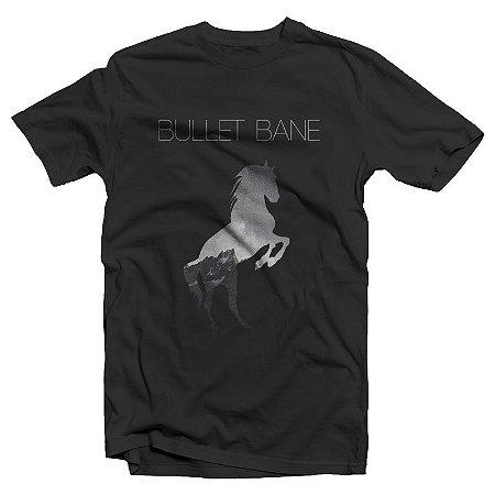 "Bullet Bane ""Cavalo"" Camiseta Preta"