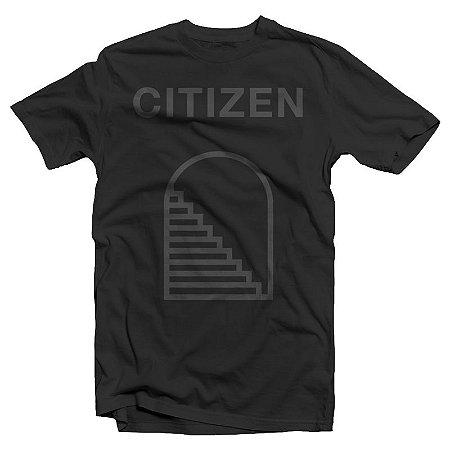 "Citizen ""Stairway"" Camiseta Preta"