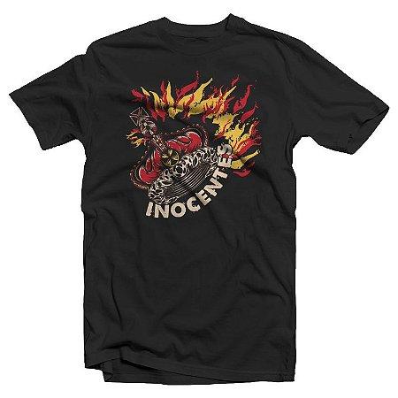 "inocentes ""Coroa"" Camiseta Preta"