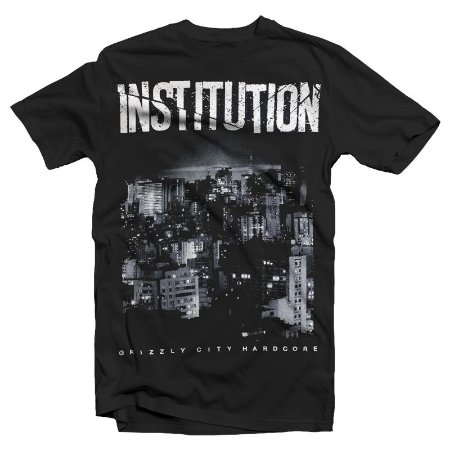 """Institution """"Cidade"""" Camiseta Preta"""