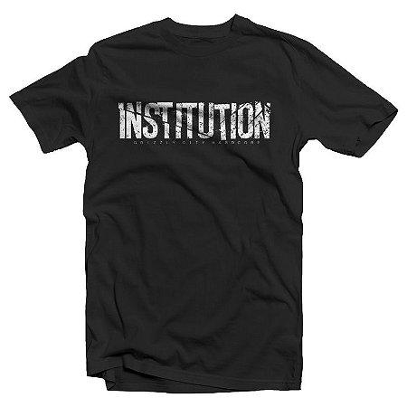 """Institution """"Logo"""" Camiseta Preta"""