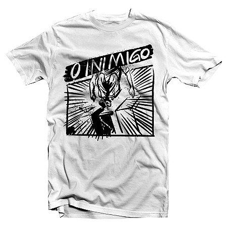 """O Inimigo """"Catraca"""" Camiseta Branca"""