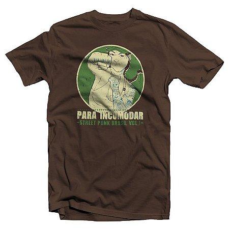 """Para Incomodar """"Vol.1"""" Camiseta Marrom"""