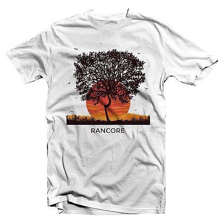 """Rancore """"Árvore"""" Camiseta Branca Branca"""