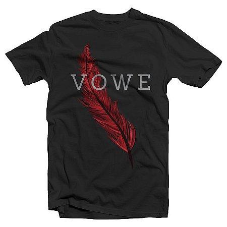 """Vowe """"Pena"""" Camiseta Preta"""