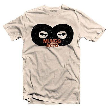 """Mundo Alto """"A Interminável Necessidade de Ser"""" Camiseta Creme"""