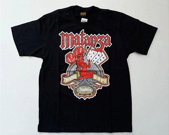 "Matanza ""Thunder Dope"" Camiseta Preta"