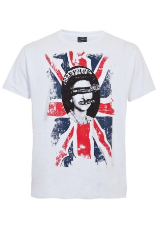 "Sex Pistols ""God Save The Queen"" Camiseta Branca"