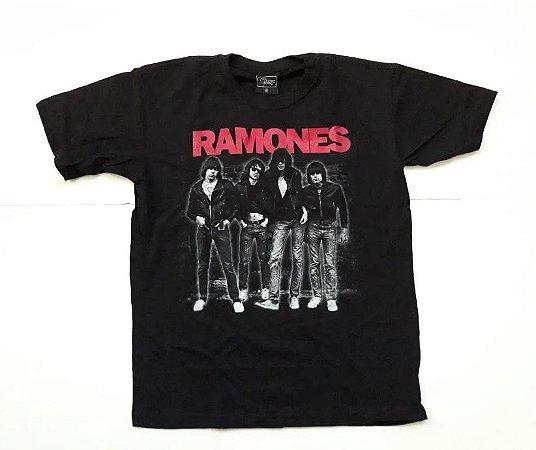 "Ramones ""Banda"" Camiseta Preta"
