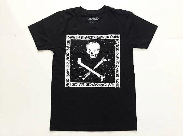 """Rancid """"Album 5"""" Camiseta Preta"""
