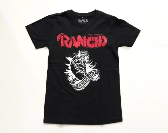 "Rancid ""Let's Go"" Camiseta Preta"