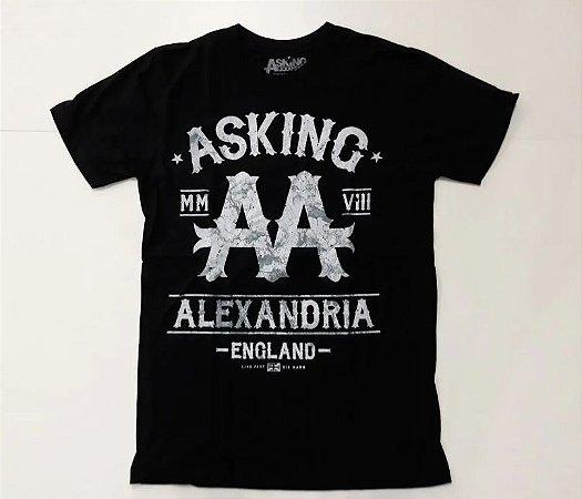 "Asking Alexandria ""Live Fast"" Camiseta Preta"